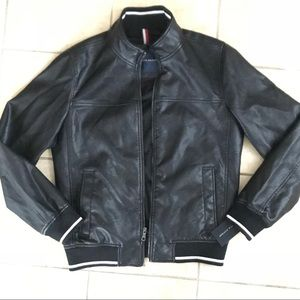 Tommy Hilfiger Faux Leather Baseball Style Bomber
